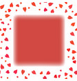 red heart frame vector image vector image