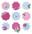 Scrapbook Design Elements - Tags with Flowers vector image vector image