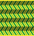 seamless pattern green yellow zig zag background vector image vector image
