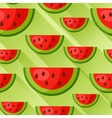 Seamless pattern with watermelon slices in flat vector image