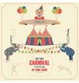 set circus flat icons vector image