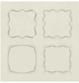set of 4 unusual frames in cut of paper style on vector image vector image