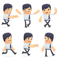 set of businessman character in different poses vector image
