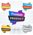 set of creative promotional banners tags labels vector image