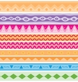 Set of seamless ethnic background vector image vector image