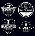 set of vintage sewing and tailor labels badges vector image