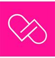 simple dp dd pd pp initials line art company logo vector image