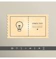 Simple stylish pixel icon bulb design vector image