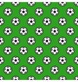 Soccer Ball on Green Seamless Background
