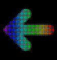 spectrum pixel arrow left icon vector image vector image