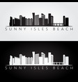sunny isles beach usa skyline and landmarks vector image vector image