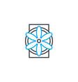 ventilation industrial system linear icon concept vector image vector image