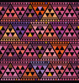 vibrant boho style triangle repeat pattern vector image