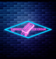 vintage summer season emblem vector image