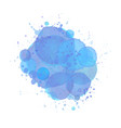 watercolor splash effect background blue brush vector image vector image