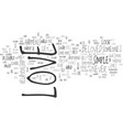what is love text word cloud concept vector image vector image