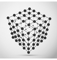 Wireframe polygonal element vector image vector image