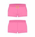 womens pink sport shorts vector image vector image