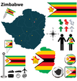 Zimbabwe map vector image