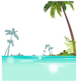 Tropical islands background vector image