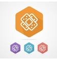Two plaster icon Patch flat icons vector image