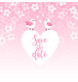 cute spring greeting card wedding invitation with vector image