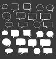 Hand Drawn Speech Bubbles Doodle vector image