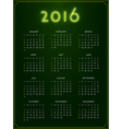 2016 Calendar Abstract Week Starts from Sunday vector image vector image