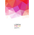 abstract colorful geometric template on top vector image vector image