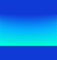 abstract halftone perspective blue gradient vector image vector image
