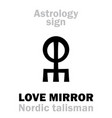 astrology love mirror vector image vector image