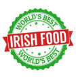 authentic irish cuisine grunge rubber stamp vector image vector image