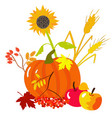 autumn harvests vector image vector image