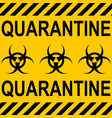 background yellow black stripes quarantine zone vector image vector image