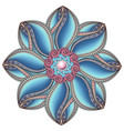 beautiful deco colored contour mandala vector image vector image