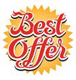 Best Offer Sticker vector image vector image