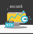 big data concept vector image vector image
