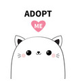 cat head face icon set adopt me cute cartoon vector image vector image