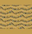 christmas tree hand drawn sketch seamless pattern vector image
