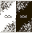 cocoa packages set vector image vector image