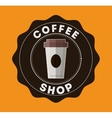 Coffee drink shop design vector image vector image
