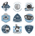 colorful futuristic innovations labels collection vector image