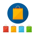 colorful paper bag sale icon set Flat vector image