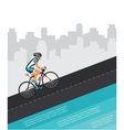 cycling competition race poster cyclist riding vector image