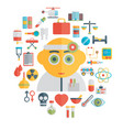 doctor and medical tools flat vector image