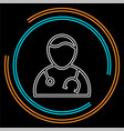 doctor assistant avatar icon vector image