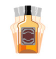 drunkenness whiskey bottle seeing double drink vector image vector image