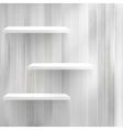 Empty wood shelf on old wall EPS10 vector image