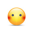 face emoji without mouth cartoon silent emoticon vector image vector image