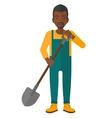 farmer with spade vector image vector image